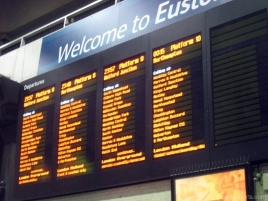 Departure Board at Euston Train Station