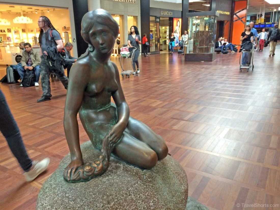 The Little Mermaid Statue at Copenhagen Airport