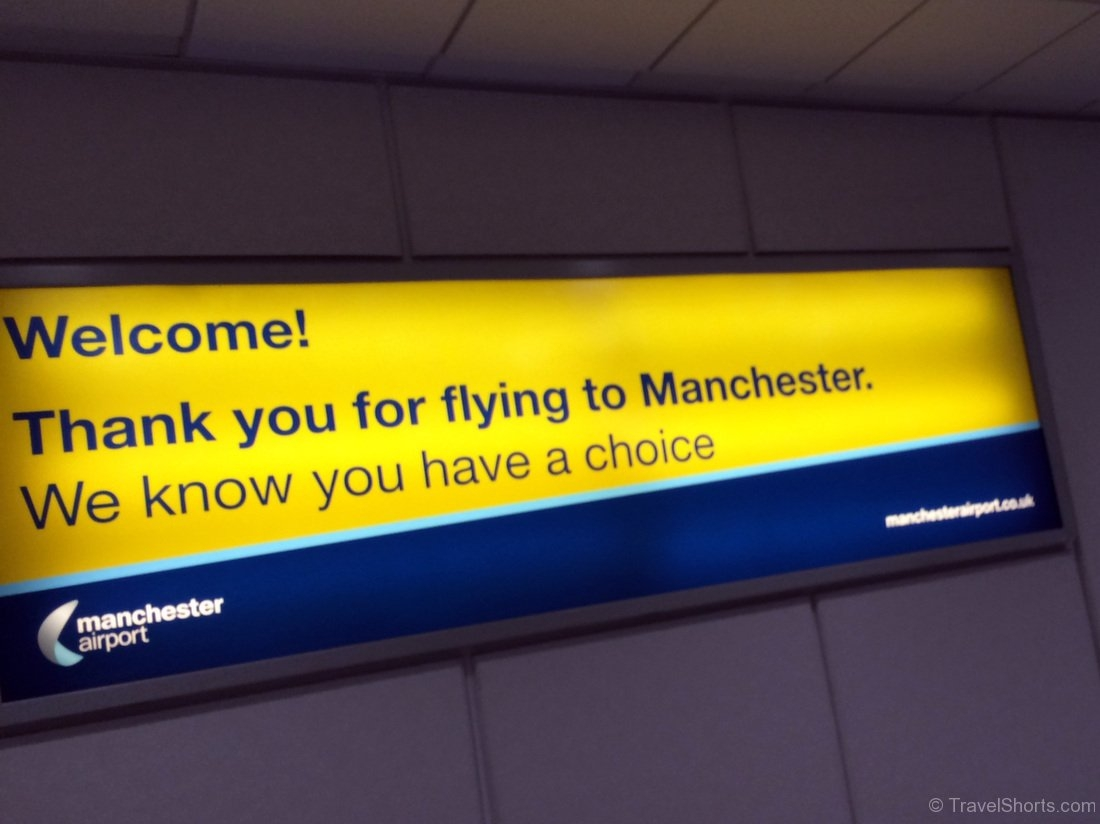 Arrival at Manchester Airport
