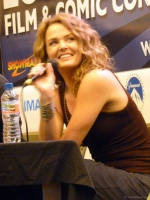 Dina Meyer during Starship Troopers talk at London Film and Comic Con 2014 09