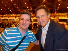 Robert Hays and me at London Film and Comic Con 2014