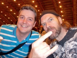 Tyler Mane and me at London Film and Comic Con 2014