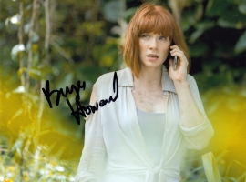 Bryce Dallas Howard Signed Photograph