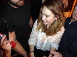 Lily James Signing AutographsJPG