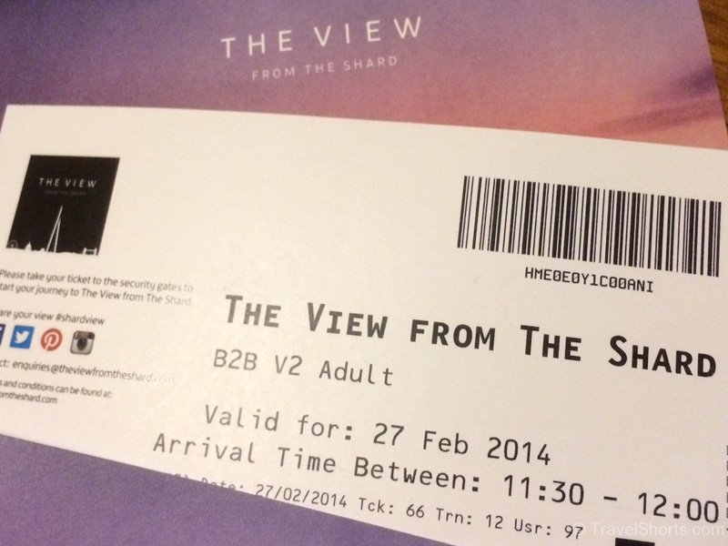 View from the Shard Ticket